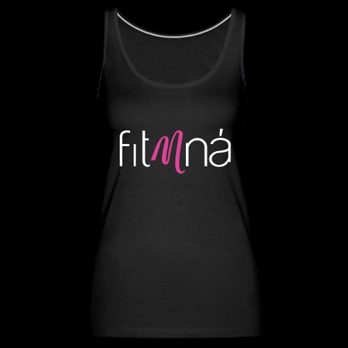 Fit Mná Logo Black Background - Women's Premium Tank Top