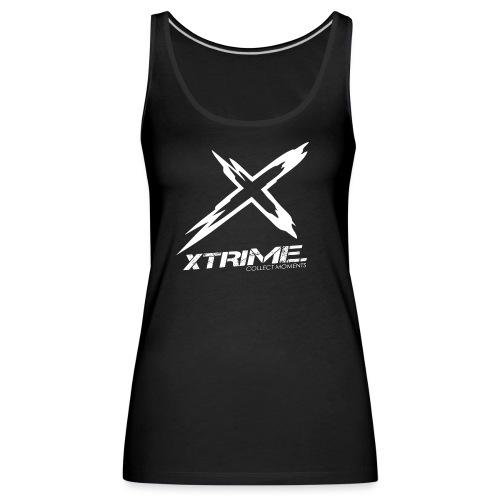 Spreadshirt XtriME Logo Whi png - Frauen Premium Tank Top