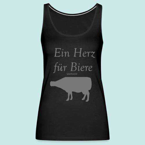 #Ein Herz für Biere #Mädls - Frauen Premium Tank Top