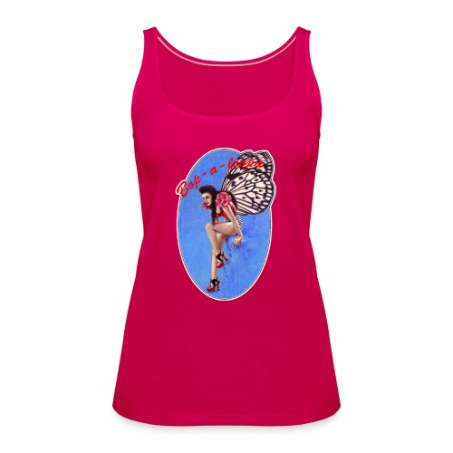 Vintage Rockabilly Butterfly Pin-up Design - Women's Premium Tank Top