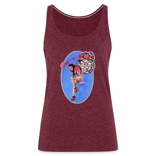 Vintage Rockabilly Butterfly Pin-up Design - Women's Premium Tank Top