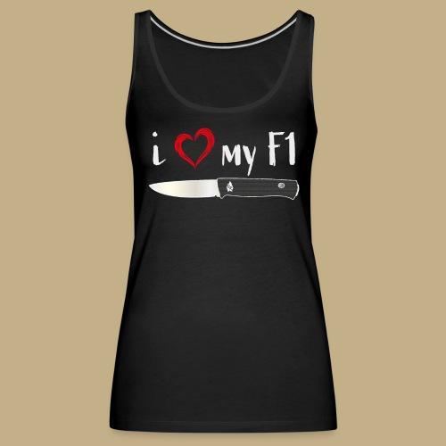 I Love My F1 - Frauen Premium Tank Top