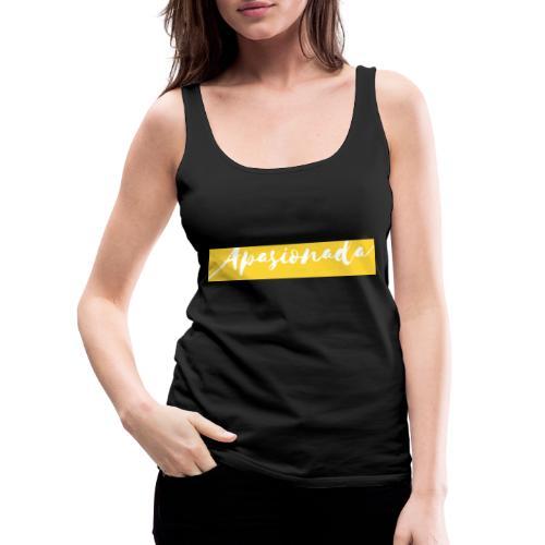 Colorful Amarillo- apasionada - Camiseta de tirantes premium mujer