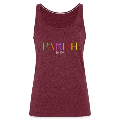 Jessica Parish Color-Schriftzug white - Frauen Premium Tank Top
