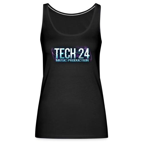 Tech 24 Logo - Women's Premium Tank Top