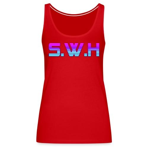 SWH Virtual Reality Logo - Women's Premium Tank Top