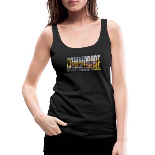 rekord commo word design - Vrouwen Premium tank top