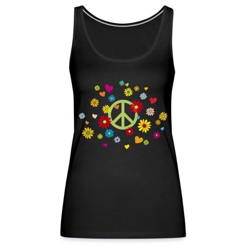 Peacezeichen Blumen Herz flower power Valentinstag - Women's Premium Tank Top