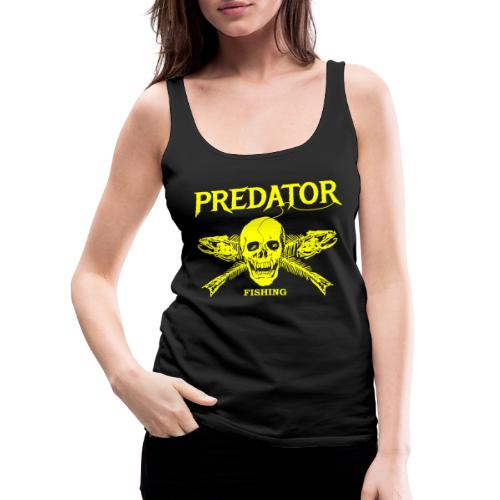 Predator fishing yellow - Frauen Premium Tank Top