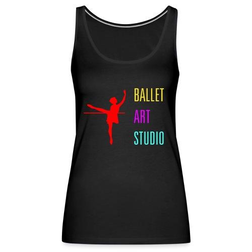 BALLET ART STUDIO BASICS BUNT LOGO / SCHRIFT - Frauen Premium Tank Top