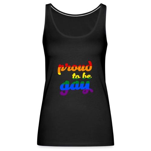 Stolz darauf, schwule LGBTQ-Unterstützung zu sein - Frauen Premium Tank Top