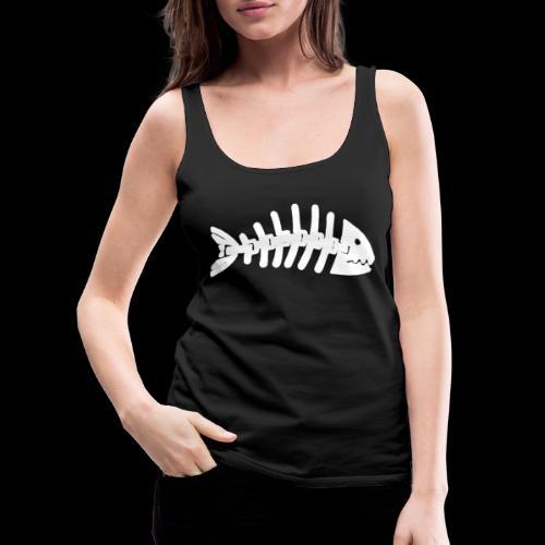 Kun fiske logo - Premium singlet for kvinner