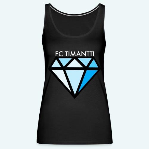 FCTimantti logo valkteksti futura - Naisten premium hihaton toppi