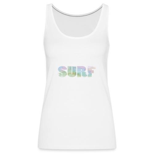 Surf summer beach T-shirt - Women's Premium Tank Top
