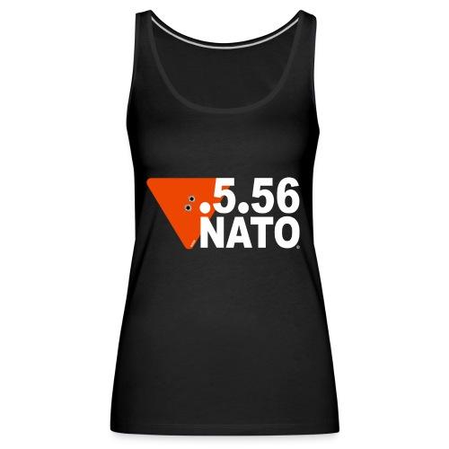 .5.56 NATO BLANC - Débardeur Premium Femme