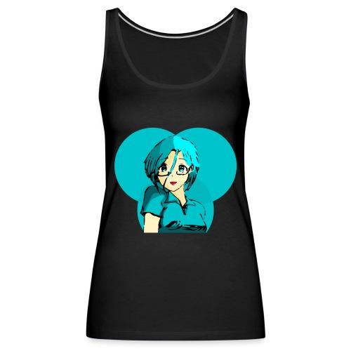 Chica azul 2 - Camiseta de tirantes premium mujer