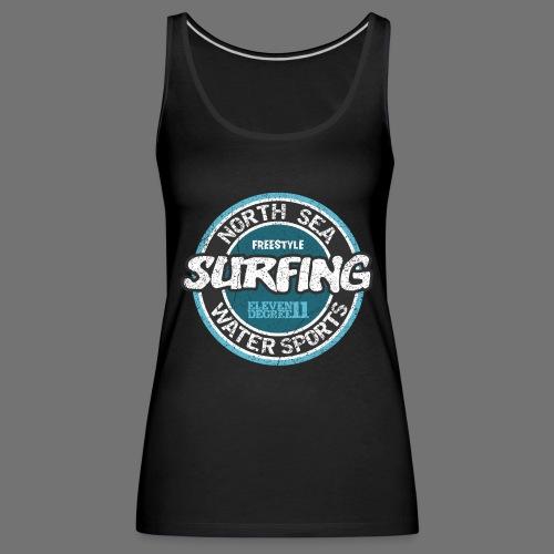 North Sea Surfing (oldstyle) - Naisten premium hihaton toppi