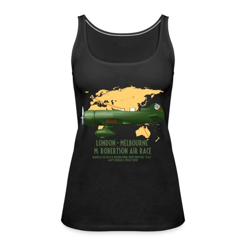 Gee Bee QED McRobertson race London-Melbourne 1934 - Women's Premium Tank Top
