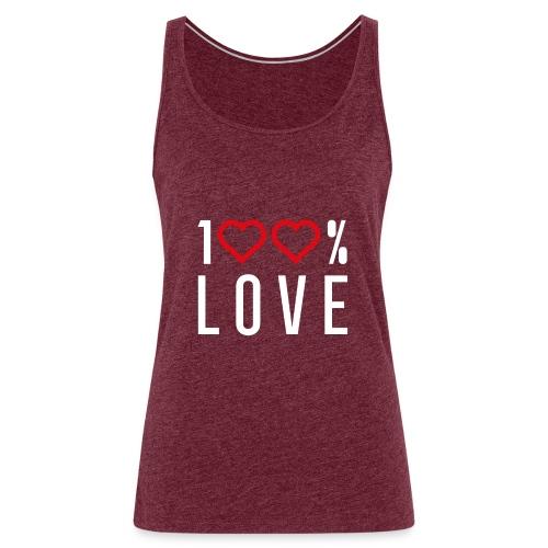 100 LOVE - Women's Premium Tank Top
