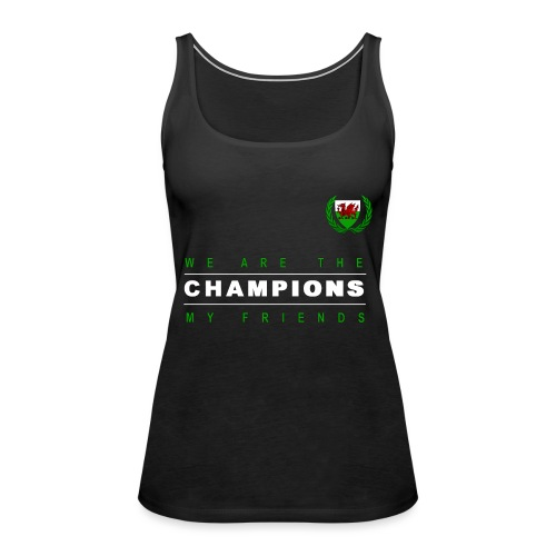 Wales Champions men red+green - Women's Premium Tank Top