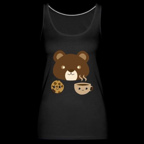 Oso Merendando - Camiseta de tirantes premium mujer