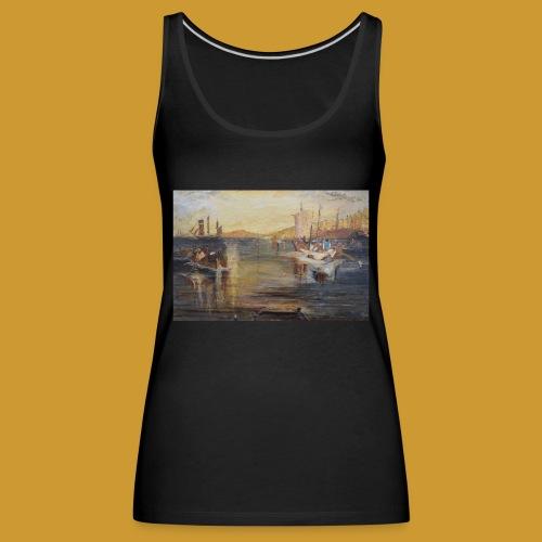 White Fishing - Mark Noble Art - Women's Premium Tank Top