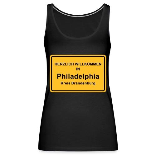 Ortsschild Philadelphia - Frauen Premium Tank Top