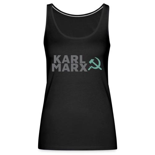 Karl Marx Logo - Canotta premium da donna