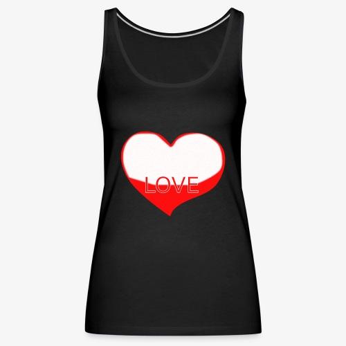 Love1 - Camiseta de tirantes premium mujer
