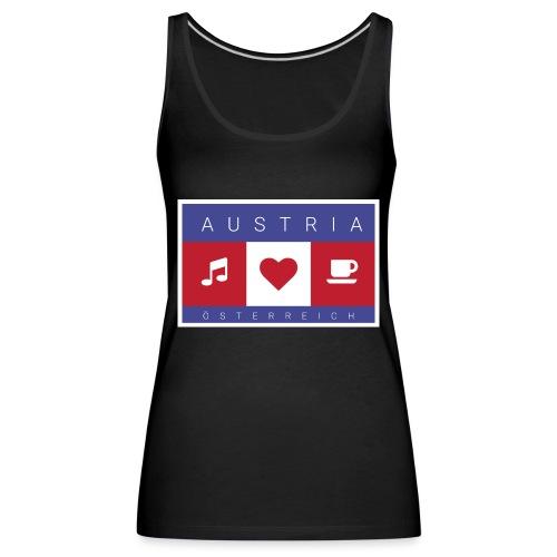 Austria - Österreich - Musik, Herz, Kaffee - Frauen Premium Tank Top