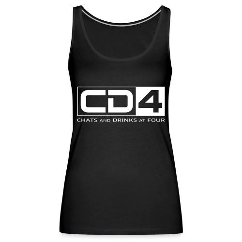cd4 logo dikker kader bold font - Vrouwen Premium tank top