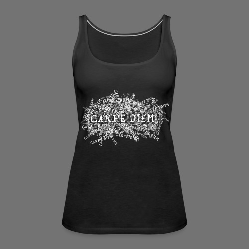 carpe diem (white) - Women's Premium Tank Top