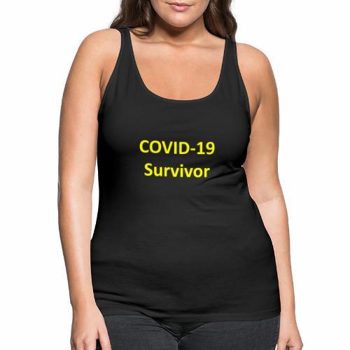 covid19 survivor yellow - Women's Premium Tank Top