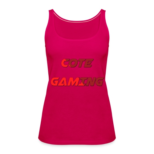 Cote Sweater Rode Letters - Women's Premium Tank Top