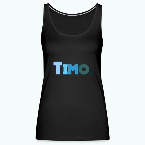 Timo in blauwe tinten - Vrouwen Premium tank top