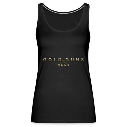 EDICIÓN GOLD GUNS WEAR - Camiseta de tirantes premium mujer
