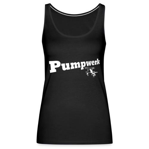 Pumpwerk bench white - Frauen Premium Tank Top