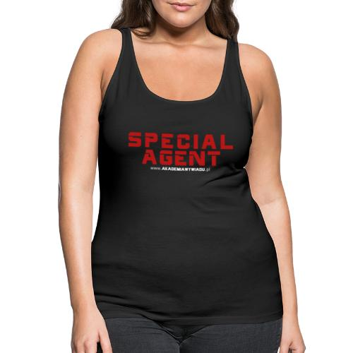 Emblemat Special Agent marki Akademia Wywiadu™ - Tank top damski Premium