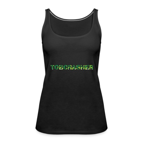 Tshirt Green triangles big - Frauen Premium Tank Top