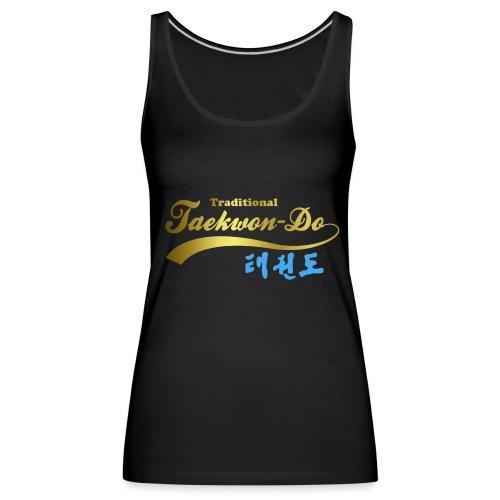 Aufdruck shirt blau gold ohne25 - Frauen Premium Tank Top