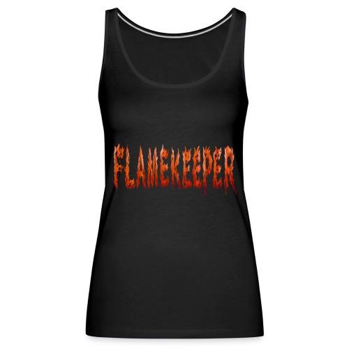 flamekeeper name logo - Vrouwen Premium tank top