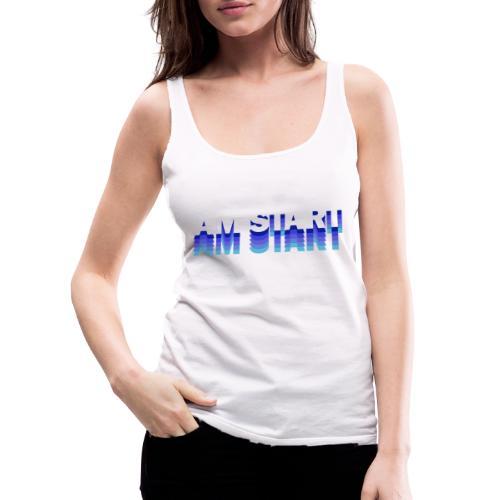 am Start - blau weiß faded - Frauen Premium Tank Top
