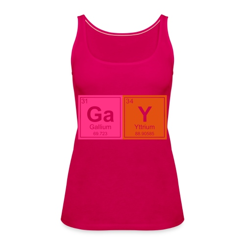 Geeky Gay Periodic Elements - Women's Premium Tank Top