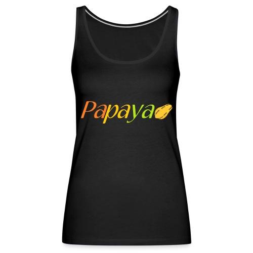 Papaya - Camiseta de tirantes premium mujer