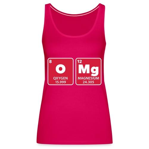 periodic table omg oxygen magnesium Oh mein Gott - Women's Premium Tank Top