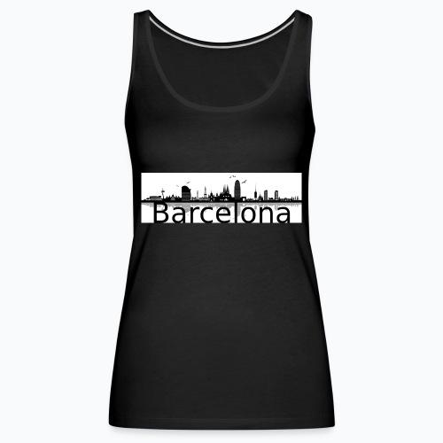 barcelona perfil negro 1 - Camiseta de tirantes premium mujer