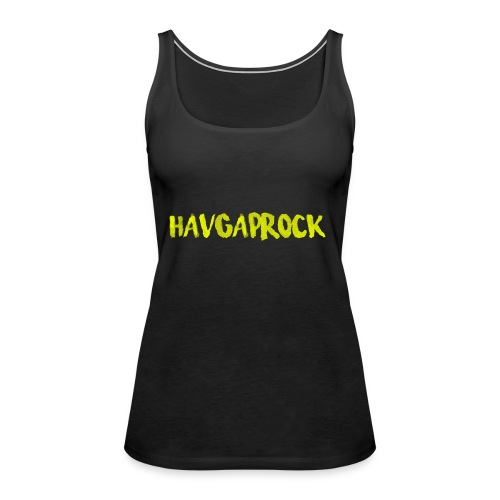 Havgaprock gul tekst - Premium singlet for kvinner