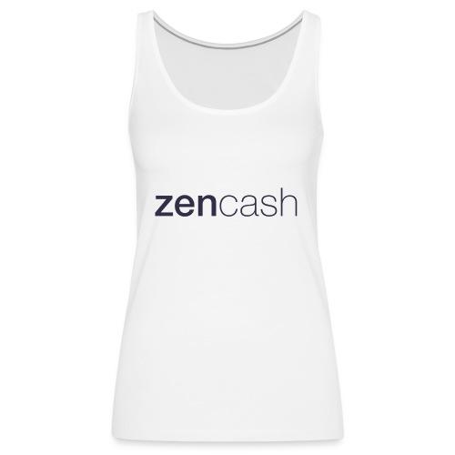 ZenCash CMYK_Horiz - Full - Women's Premium Tank Top