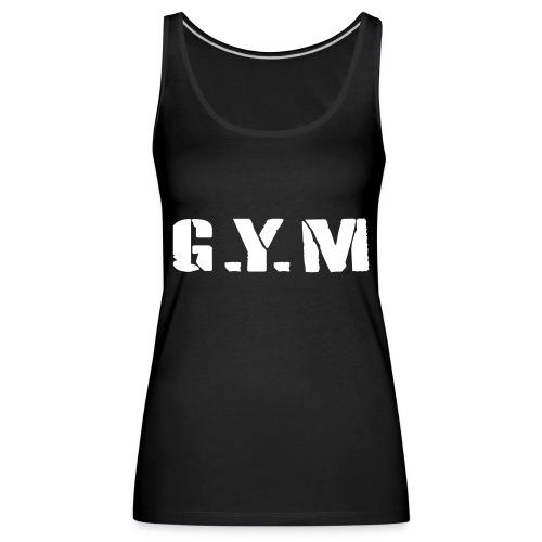 G.Y.M Outline - Women's Premium Tank Top
