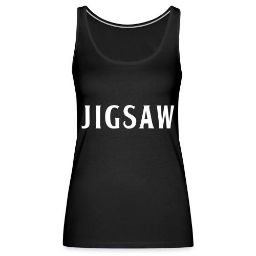 JigSaw White - Women's Premium Tank Top